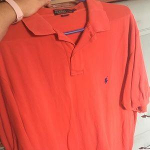 Salmon/ Orange Polo Size XL